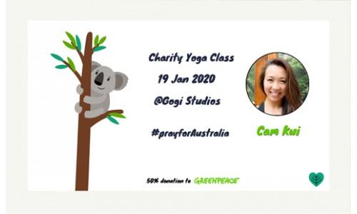 Charity Yoga Class @gojistudioshk